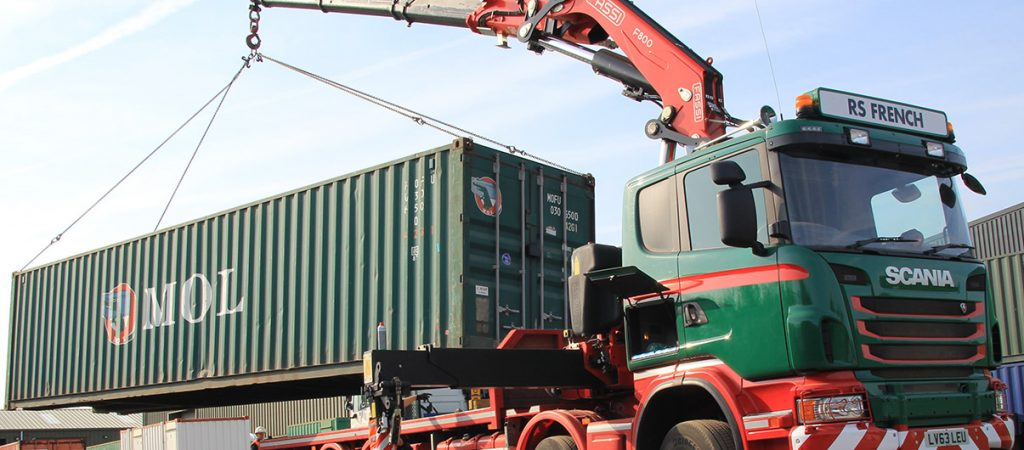 RS French container lorry